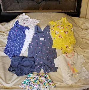 🦄 7 item bundle of girls summer clothes, 9m NWOT
